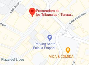 Mapa localización despacho Teresa Fernández de la Mela